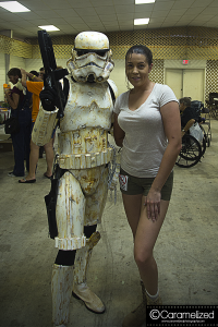 Stormtrooper and Laura Croft